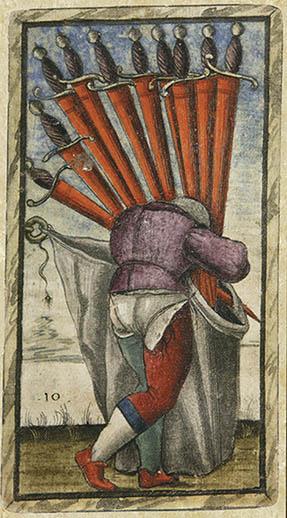 10 of Swords - Sola Busca Tarot