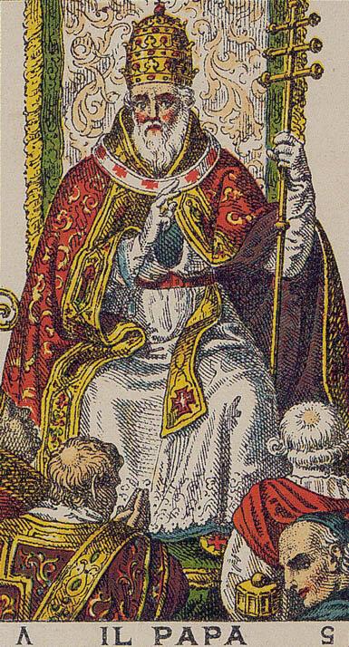 Il Papa The Pope Ancient Italian Tarot Card