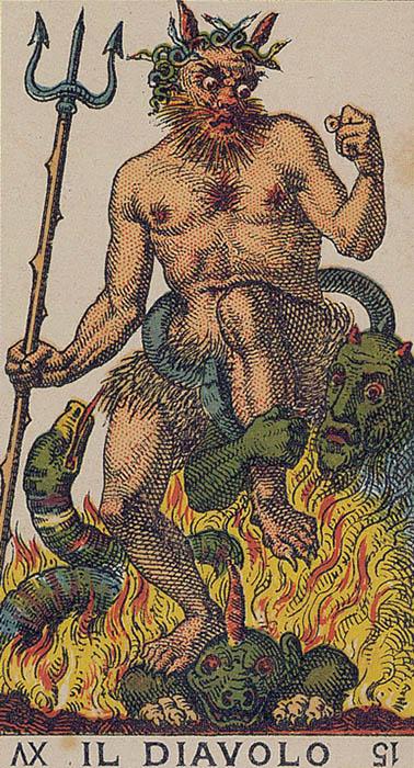 Il diavolo Devil Ancient Italian Tarot Card
