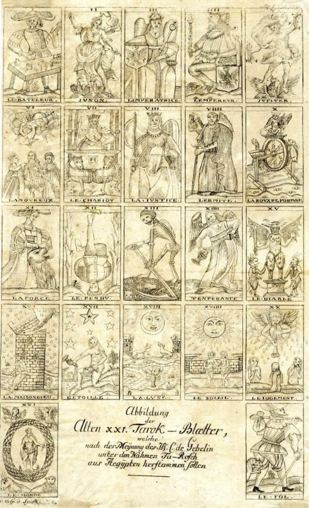 Le Fol Brietkofs Urspring der Spielkarten 1784 C de Gebelin- Full Size
