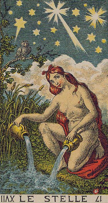 Le Stelle The Star Ancient Italian Tarot Card